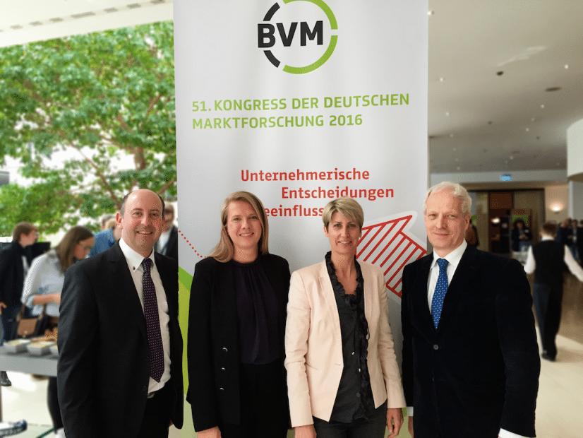 BVM Kongress 2016: (v.l.n.r) Robert Sobotka, Veronika Fasching, Charlotte Hager, Prof. Udo Wagner