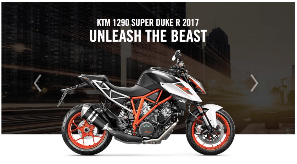 1290 SUPER DUKE R 2017 © KTM