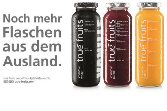 Noch mehr Flaschen aus dem Ausland ©true fruits