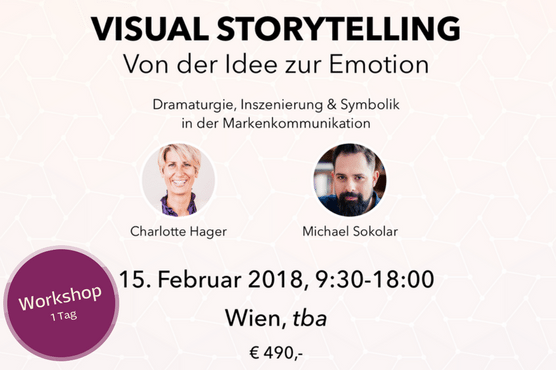 Tages-Workshop zu Visual Storytelling mit Charlotte Hager und Michael Sokolar am 15. Februar 2018