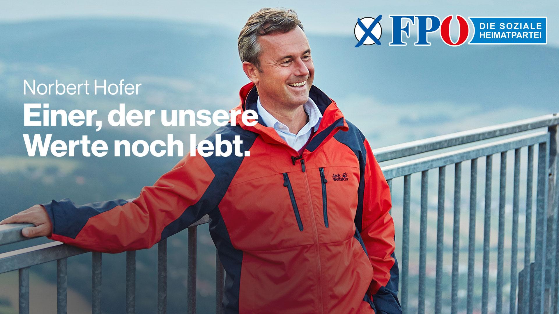 Wahlslogan 2019 der FPÖ: Einer der unsere Werte noch lebt