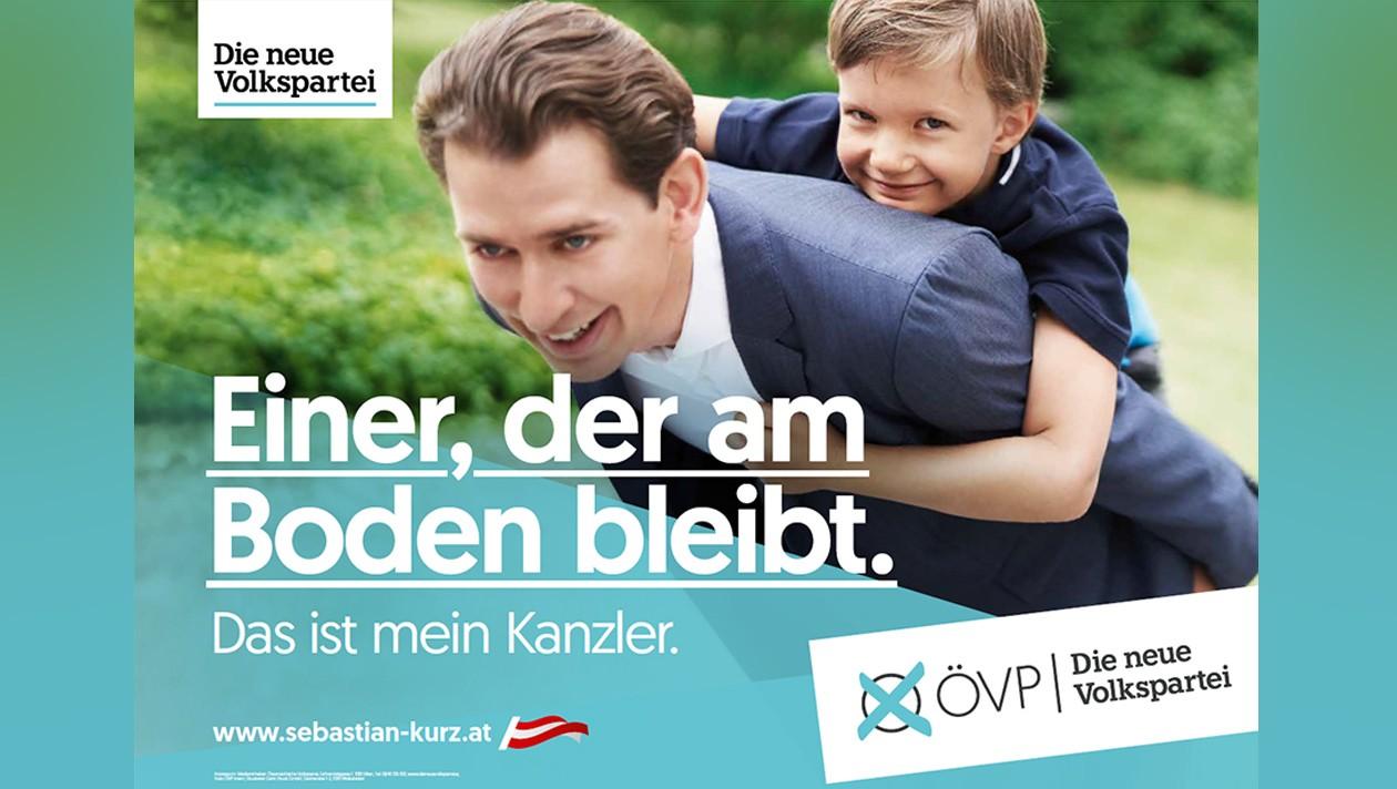 Wahlslogan 2019 der ÖVP: einer der am Boden bleibt