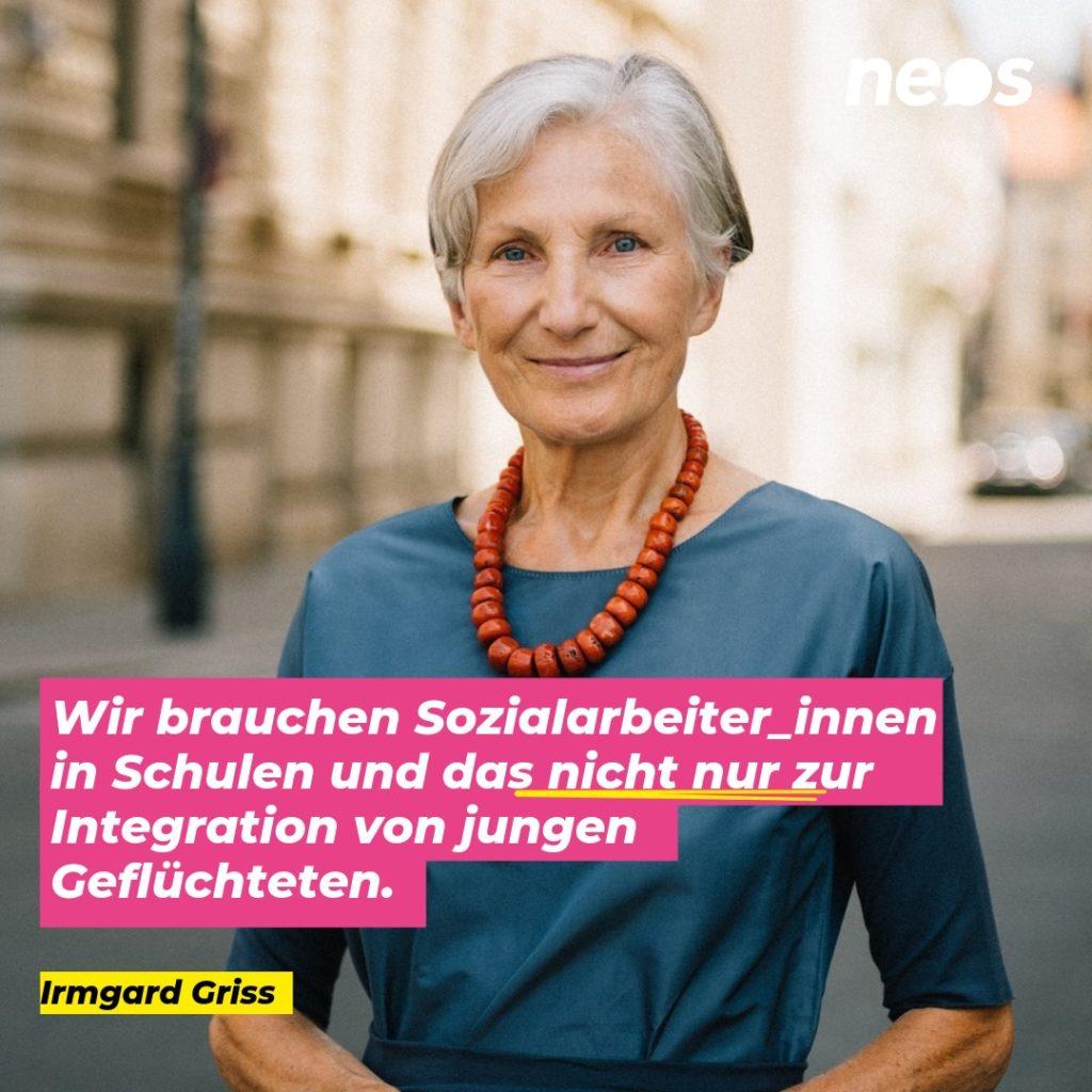 Wahlslogan 2019 Neos: Irmgard Griss