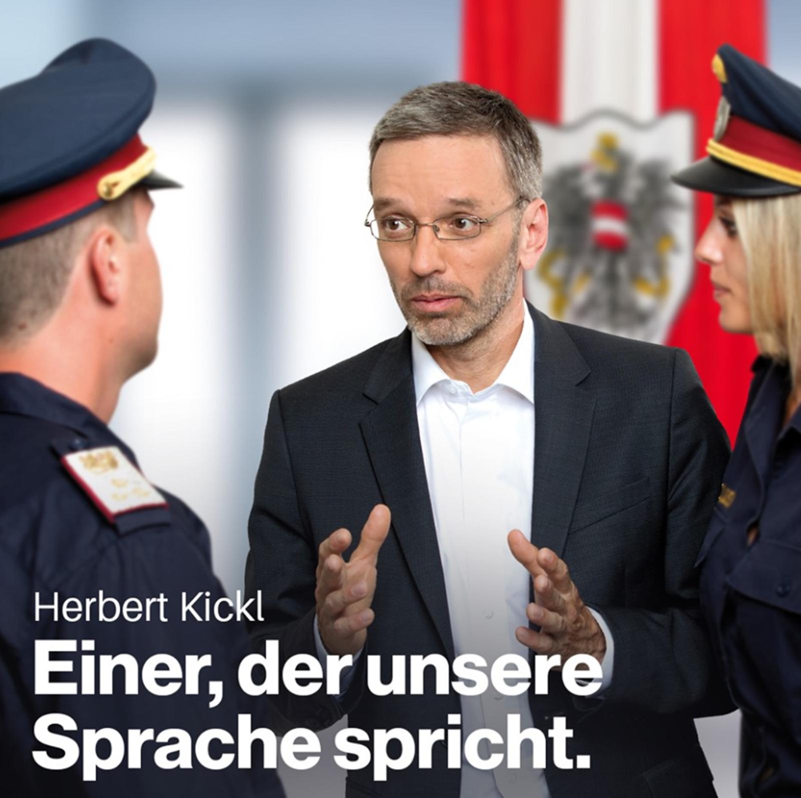 Wahlslogan 2019 der FPÖ: Einer der unsere Sprache spricht
