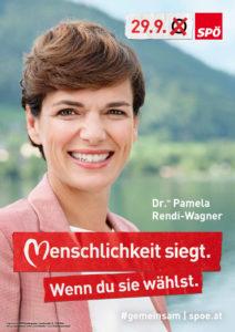Wahlslogan 2019 der SPÖ: Menschlichkeit siegt wenn du sie waehlst