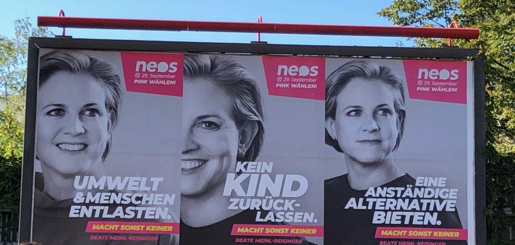 Wahlslogan 2019 Neos: Macht sonst keiner