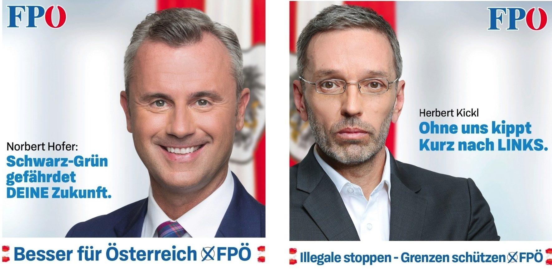 Wahlslogan 2019 der FPÖ: Besser fuer Oesterreich